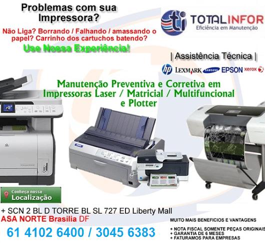 assistencia impressoras em brasilia