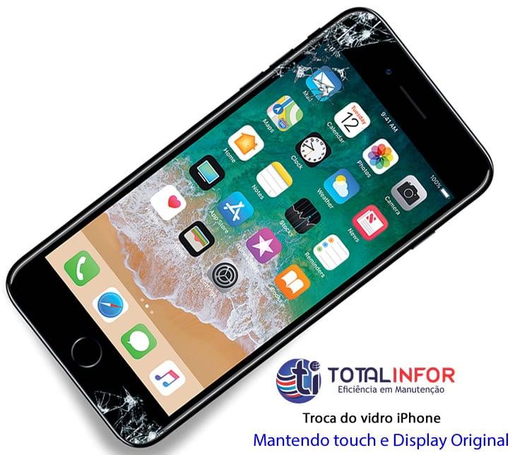 troca vidro iphone