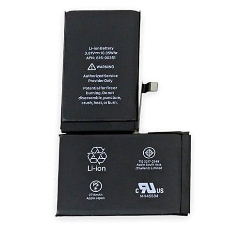 Bateria iPhone X Apple lítio 2716 mAh 10,35 Wh